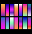 colorful gradients screen gradient covers vector image vector image