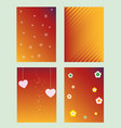 colorful set of greeting background banner vector image vector image