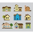 colourful home icon vector image vector image