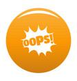 comic boom oops icon orange vector image