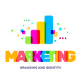 creative of multicolor marketing business word vector image vector image