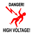 Danger High Voltage vector image