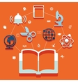 Education flat infographic vector image vector image