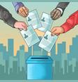 election day celebration of democracy vector image