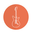 electric guitar instrument isolated icon