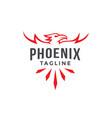 emblem label phoenix logo template vector image