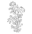 floral pattern contour on white background vector image