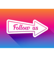 Follow us icon vector image vector image