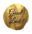 Goodluck Golden Banner vector image vector image