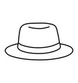 hat icon cartoon black and white vector image vector image