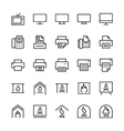 Hotel Outline Icons 4 vector image