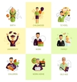 Human life stages icons set flat vector image vector image