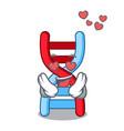 in love dna molecule mascot cartoon vector image