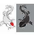 Koi carps tattoo vector image vector image