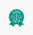 law firm round logo law office badge emblem vector image