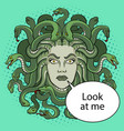 medusa greek myth creature pop art vector image vector image