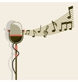 Microphone and music note icon Retro and Music vector image vector image