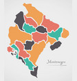 montenegro map with states vector image vector image