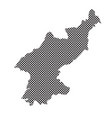 north korea map vector image