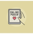 Online poker colorful icon vector image vector image