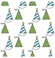 Party hats Seamless festive pattern vector image vector image