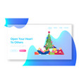 people celebrate new year and christmas holidays vector image vector image