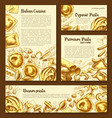 posters templates set of italian pasta vector image vector image
