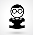 reading book icon vector image