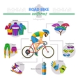 Road bike uniforms infographic vector image vector image