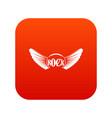 rock icon digital red vector image vector image