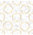 seamless luxury pattern with white marble vector image