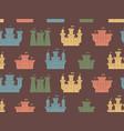 seamless pattern with castles and fortresses vector image vector image
