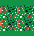 seamless pattern with viking for design fabric vector image vector image
