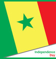 senegal independence day vector image vector image
