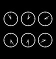 set of clocks time icons vector image