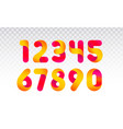 set of numbers from 0 till 9 vector image vector image
