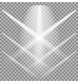 Set of White Spotlights vector image vector image
