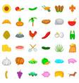 shovel icons set cartoon style vector image vector image