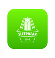 sleepwear icon green vector image