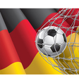 Soccer goal and German flag vector image vector image