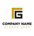 vg gl lg company group logo concept idea vector image vector image