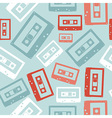 Vintage audio tapes pattern vector image vector image
