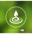 water drop rain droplet icon fluid clean design vector image vector image