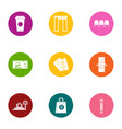 weigh a load icons set flat style vector image vector image