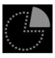 white halftone pie chart icon vector image