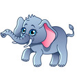 cartoon elephant isolated vector image