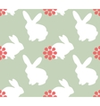 Cute seamless pattern with bunnies vector image