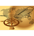 wind rose and plane vector image