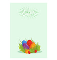 Easter eggs on the green grass vector image
