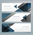 abstract horizontal business banner set vector image vector image